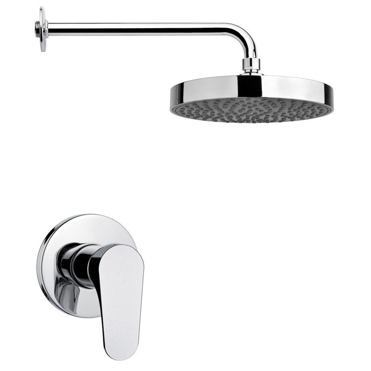 REMER SS1198 MARIO ROUND SHOWER FAUCET SET IN CHROME