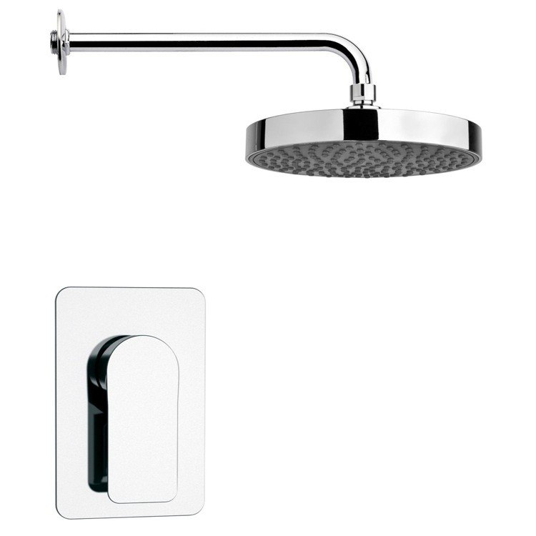REMER SS1199 MARIO CHROME ROUND SHOWER FAUCET SET