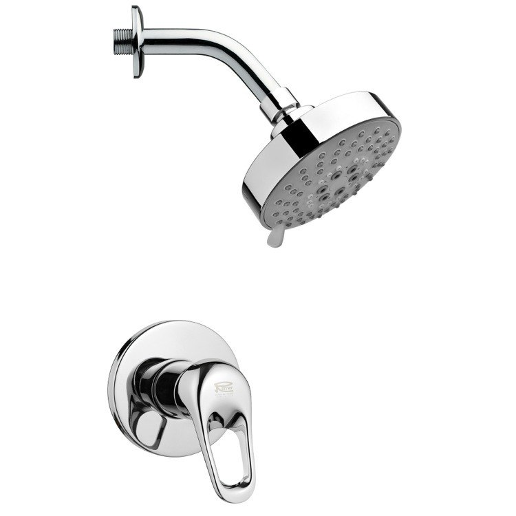 REMER SS1201 MARIO POLISHED CHROME ROUND SHOWER FAUCET SET