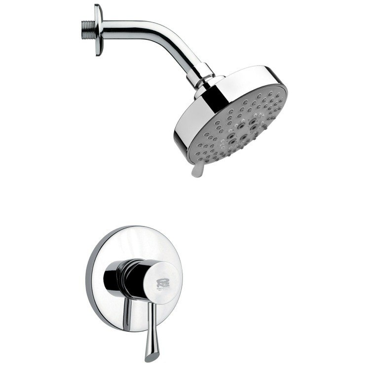 REMER SS1202 MARIO POLISHED CHROME ROUND SHOWER FAUCET SET