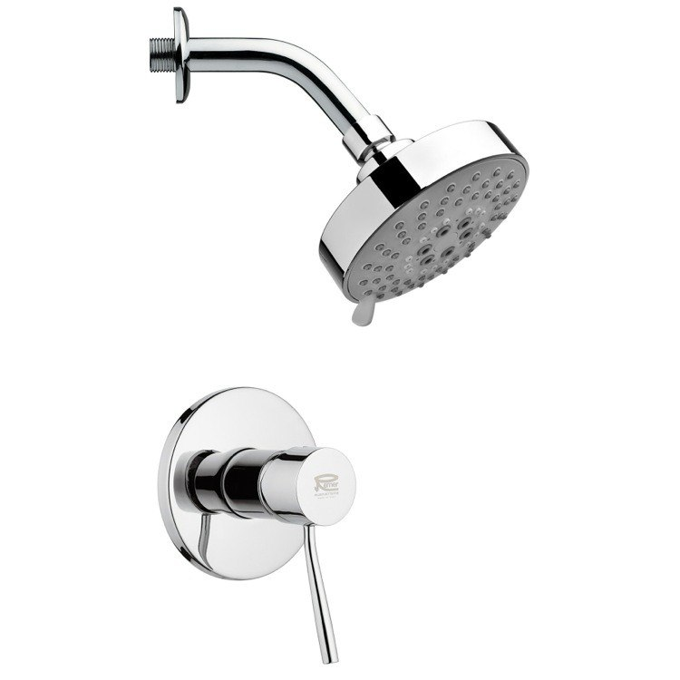 REMER SS1203 MARIO POLISHED CHROME ROUND SHOWER FAUCET SET