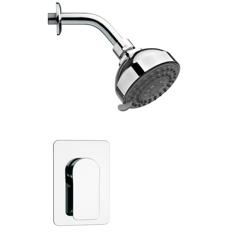 REMER SS1207 MARIO ROUND SHOWER FAUCET SET IN POLISHED CHROME WITH LEVER