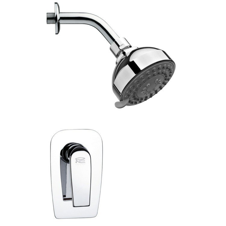 REMER SS1208 MARIO ROUND SHOWER FAUCET SET IN POLISHED CHROME WITH LEVER