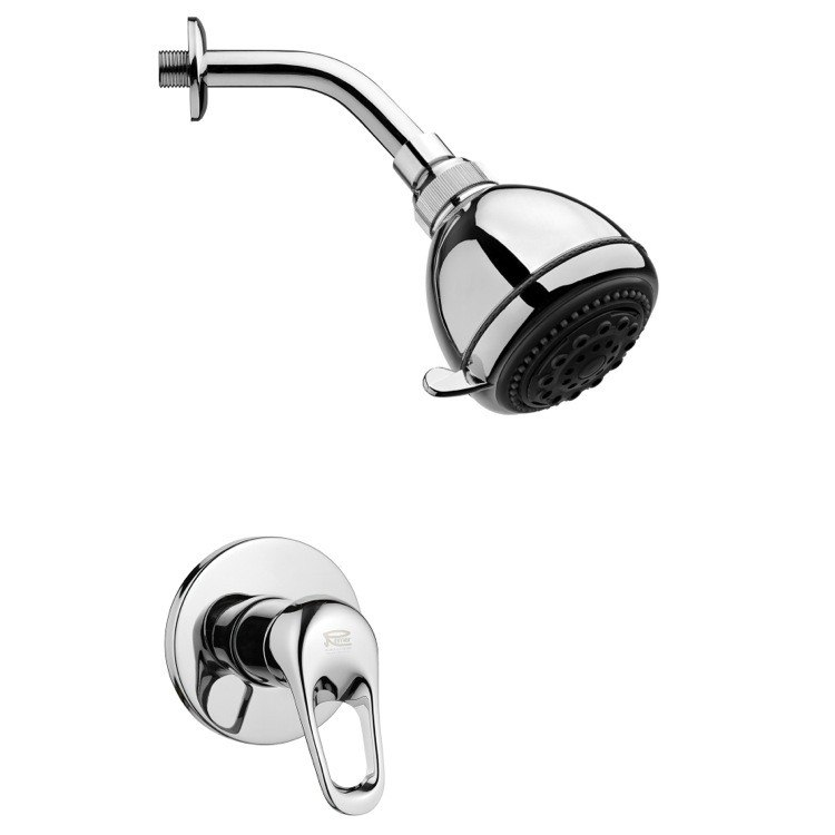 REMER SS1247 MARIO POLISHED CHROME SHOWER FAUCET SET WITH SINGLE LEVER