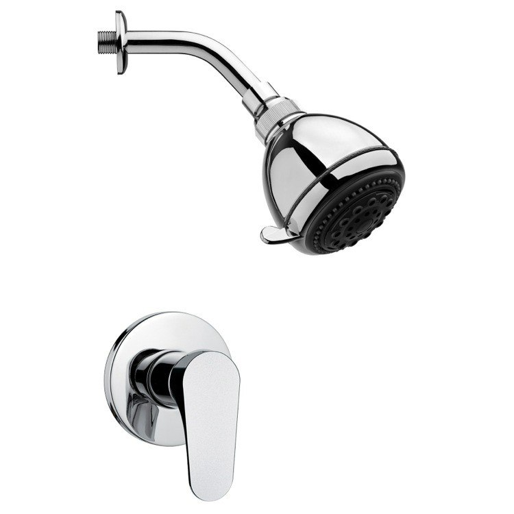 REMER SS1248 MARIO POLISHED CHROME SHOWER FAUCET SET WITH SINGLE LEVER