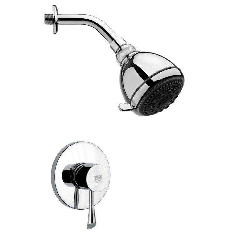 REMER SS1250 MARIO POLISHED CHROME SHOWER FAUCET SET WITH SINGLE LEVER