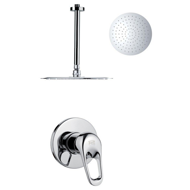 REMER SS1263 MARIO ROUND CHROME SINGLE LEVER SHOWER SHOWER FAUCET SET