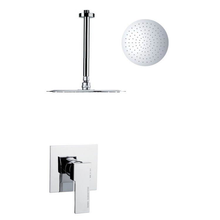 REMER SS1264 MARIO ROUND CHROME SINGLE LEVER SHOWER SHOWER FAUCET SET