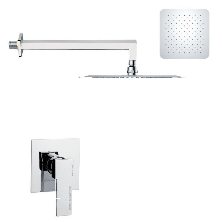 REMER SS1275 MARIO ROUND AND MODERN POLISHED CHROME SHOWER FAUCET SET