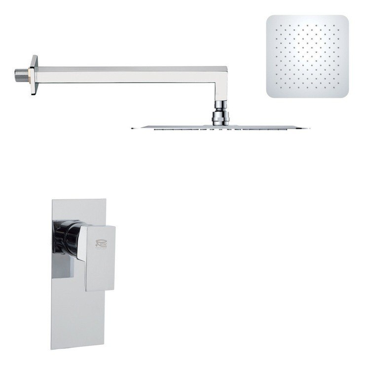 REMER SS1277 MARIO MODERN POLISHED CHROME SHOWER FAUCET SET