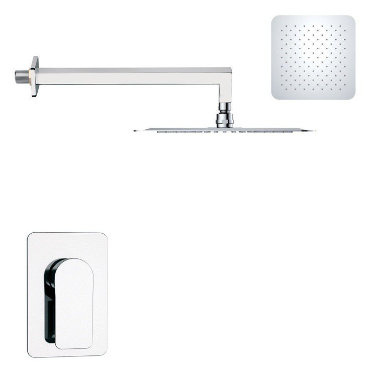 REMER SS1278 MARIO MODERN POLISHED CHROME SHOWER FAUCET SET