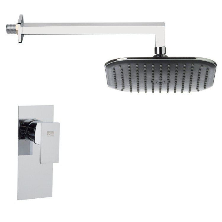 REMER SS1279 MARIO MODERN POLISHED CHROME SHOWER FAUCET SET
