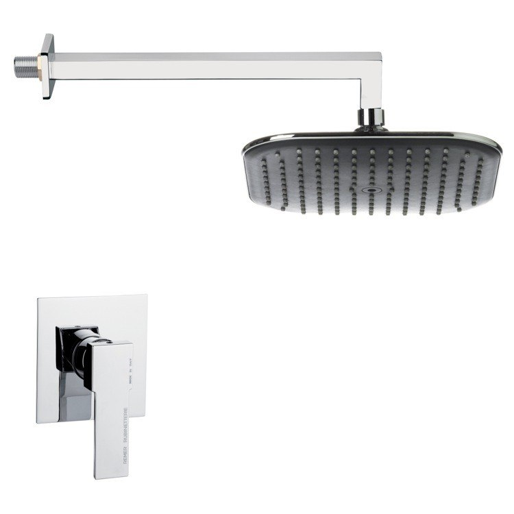 REMER SS1280 MARIO MODERN POLISHED CHROME SHOWER FAUCET SET