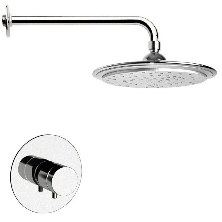 REMER SS1407 MARIO THERMOSTATIC POLISHED CHROME SHOWER FAUCET SET