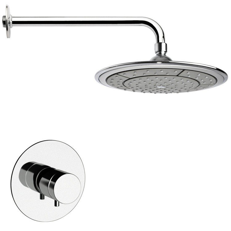 REMER SS1408 MARIO THERMOSTATIC POLISHED CHROME SHOWER FAUCET SET