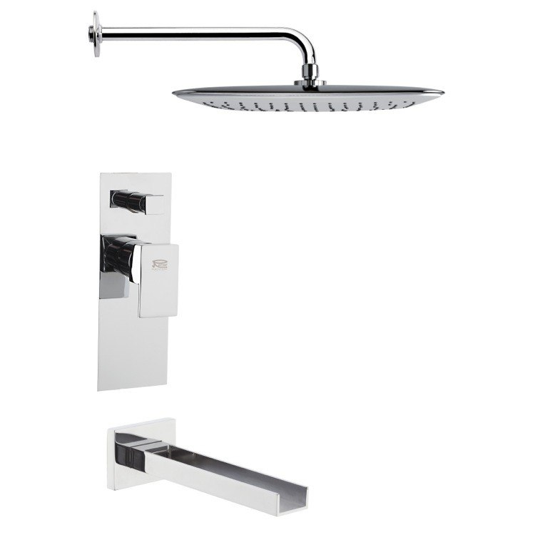 REMER TSF2011 PELEO SQUARE MODERN CHROME SHOWER SYSTEM