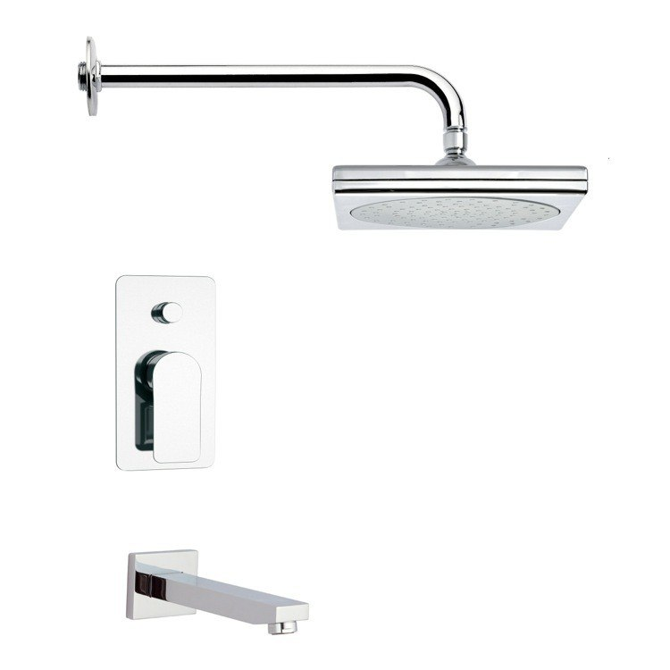 REMER TSF2015 PELEO SQUARE CHROME SHOWER SYSTEM