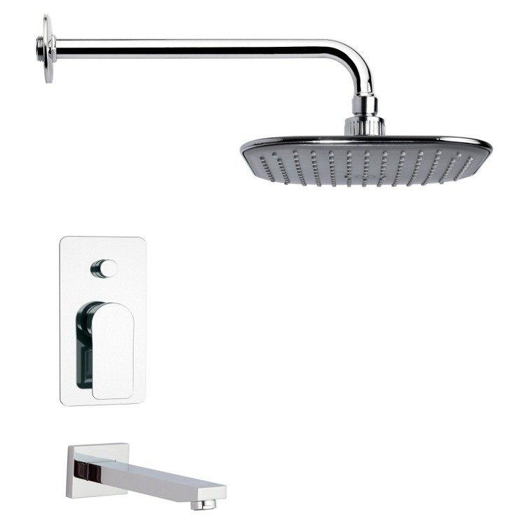 REMER TSF2023 PELEO CONTEMPORARY SQUARE CHROME RAIN SHOWER SYSTEM