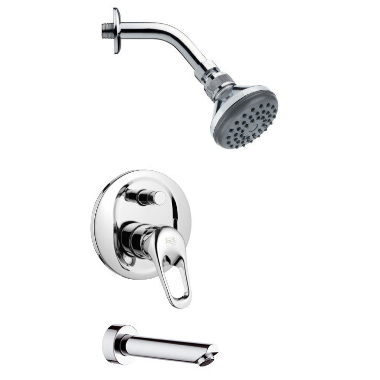 REMER TSF2057 PELEO SLEEK MODERN CHROME SHOWER SYSTEM