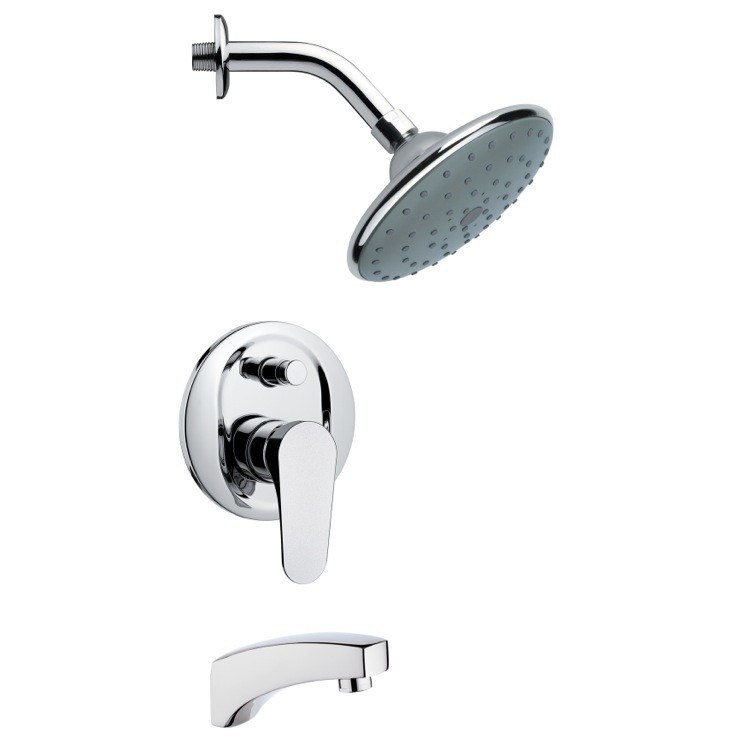 REMER TSF2064 PELEO MODERN ROUND POLISHED CHROME RAIN SHOWER SYSTEM