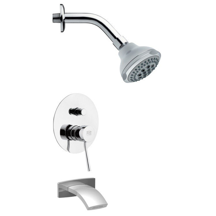 REMER TSF2078 PELEO CONTEMPORARY POLISHED CHROME SHOWER SYSTEM