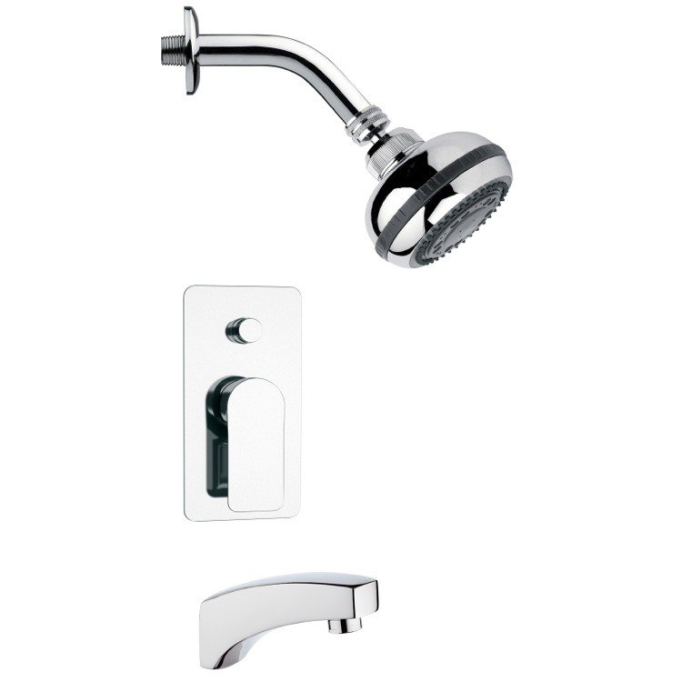 REMER TSF2080 PELEO CONTEMPORARY ROUND SHOWER SYSTEM IN CHROME