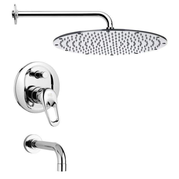 REMER TSF2136 PELEO MODERN SHOWER SYSTEM IN CHROME