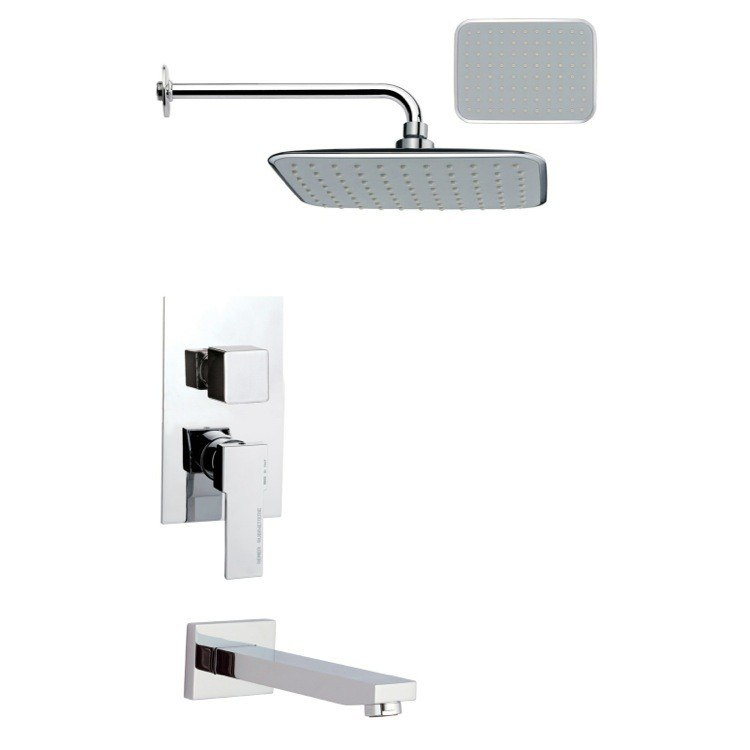 REMER TSF2161 PELEO CONTEMPORARY CHROME SQUARE RAIN SHOWER SYSTEM