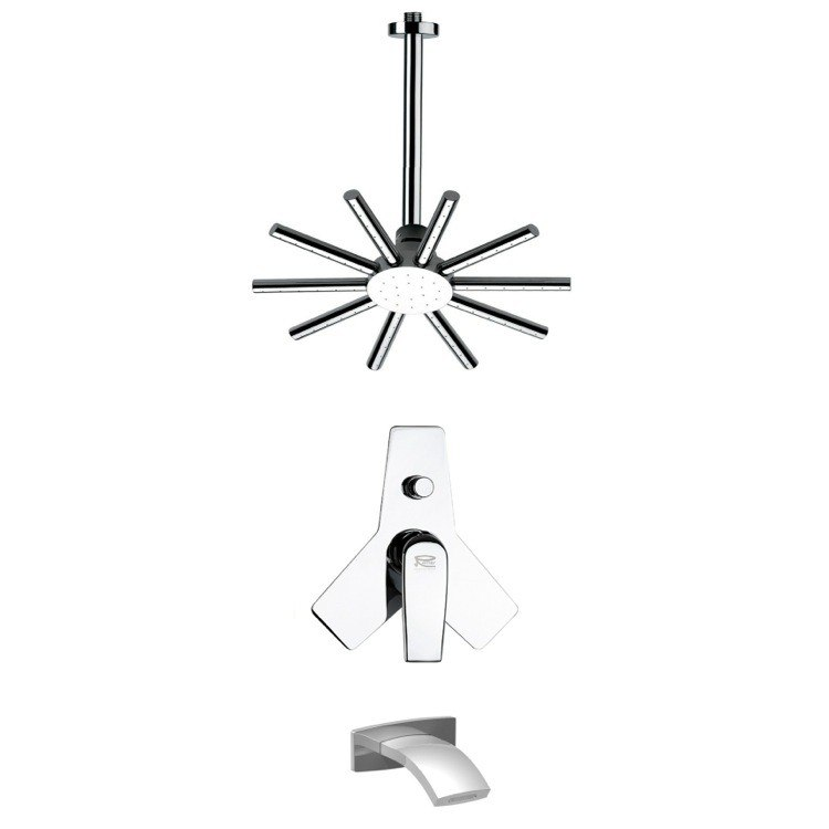 REMER TSF2271 PELEO ROUND MODERN SHOWER SYSTEM IN CHROME