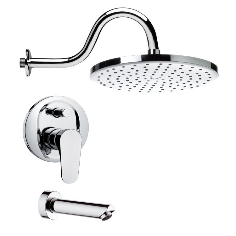REMER TSF2291 PELEO SLEEK MODERN CHROME TUB AND SHOWER FAUCET