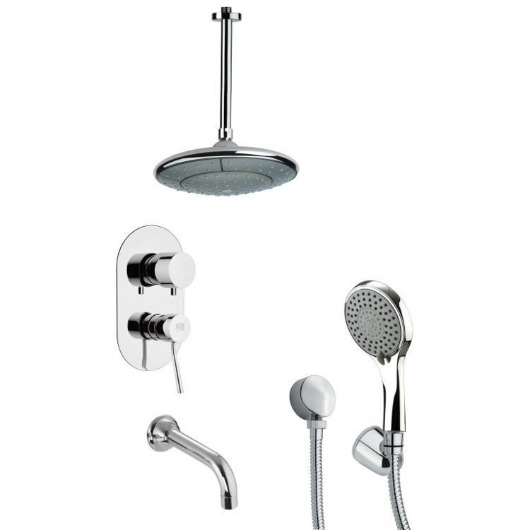 REMER TSH4007 TYGA CONTEMPORARY CHROME SHOWER SYSTEM