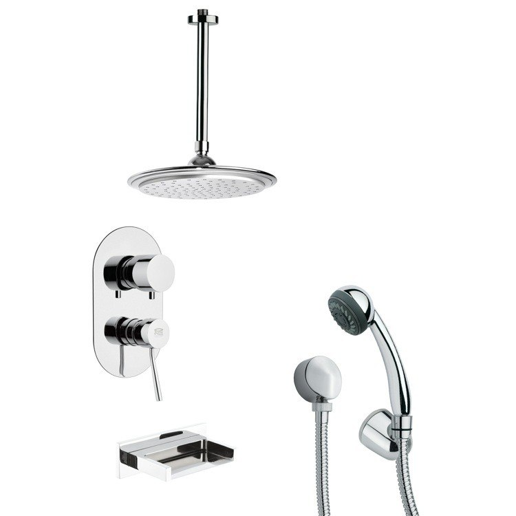 REMER TSH4010 TYGA SLEEK CHROME TUB AND SHOWER FAUCET WITH HAND SHOWER
