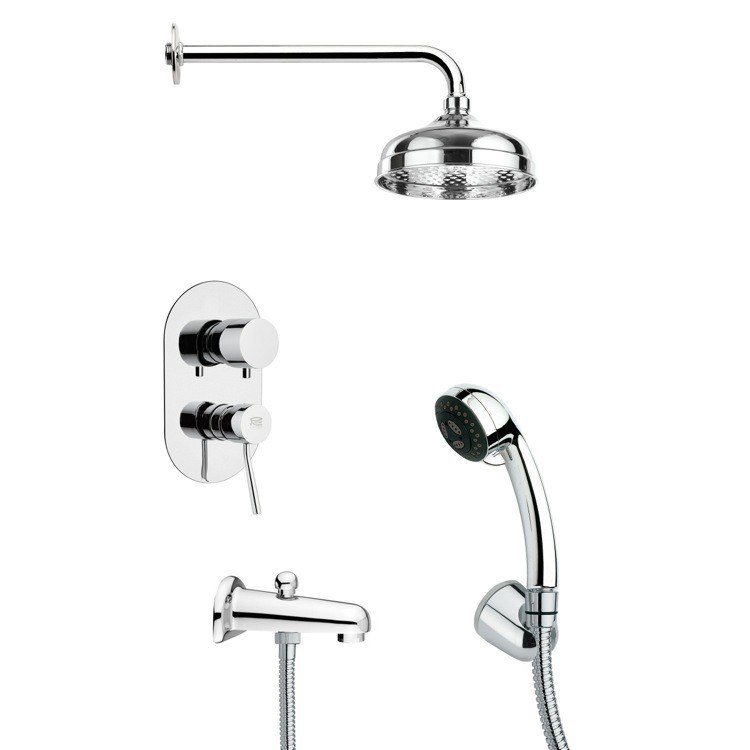 REMER TSH4029 TYGA SLEEK POLISHED CHROME SHOWER SYSTEM