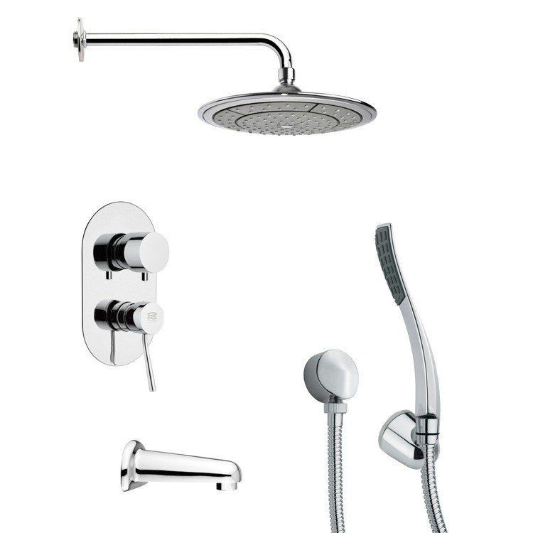 REMER TSH4040 TYGA SLEEK CHROME TUB AND SHOWER FAUCET WITH HAND SHOWER
