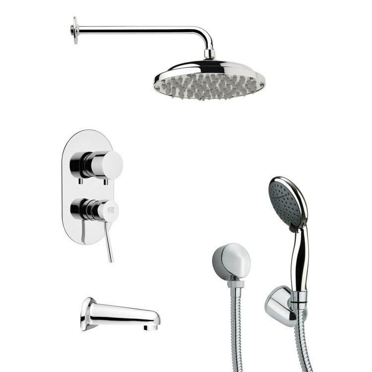 REMER TSH4052 TYGA ROUND CONTEMPORARY SHOWER SYSTEM IN CHROME