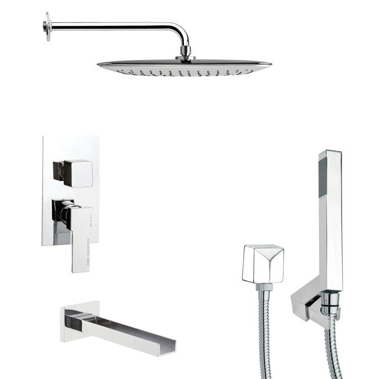 REMER TSH4055 TYGA MODERN SQUARE SHOWER SYSTEM IN CHROME