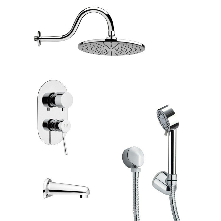 REMER TSH4069 TYGA MODERN CHROME ROUND SHOWER SYSTEM