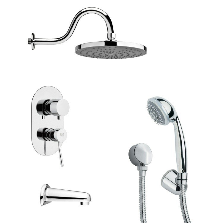 REMER TSH4080 TYGA ROUND CHROME CONTEMPORARY SHOWER SYSTEM