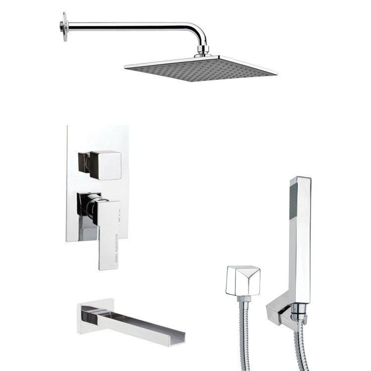 REMER TSH4110 TYGA SQUARE MODERN SHOWER SYSTEM IN CHROME