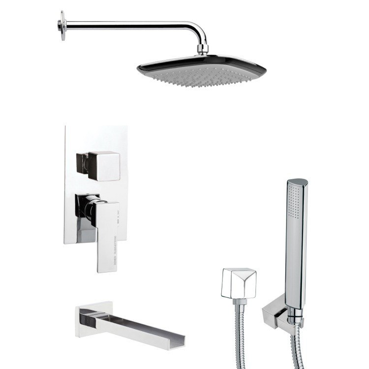 REMER TSH4113 TYGA CHROME SQUARE SHOWER SYSTEM