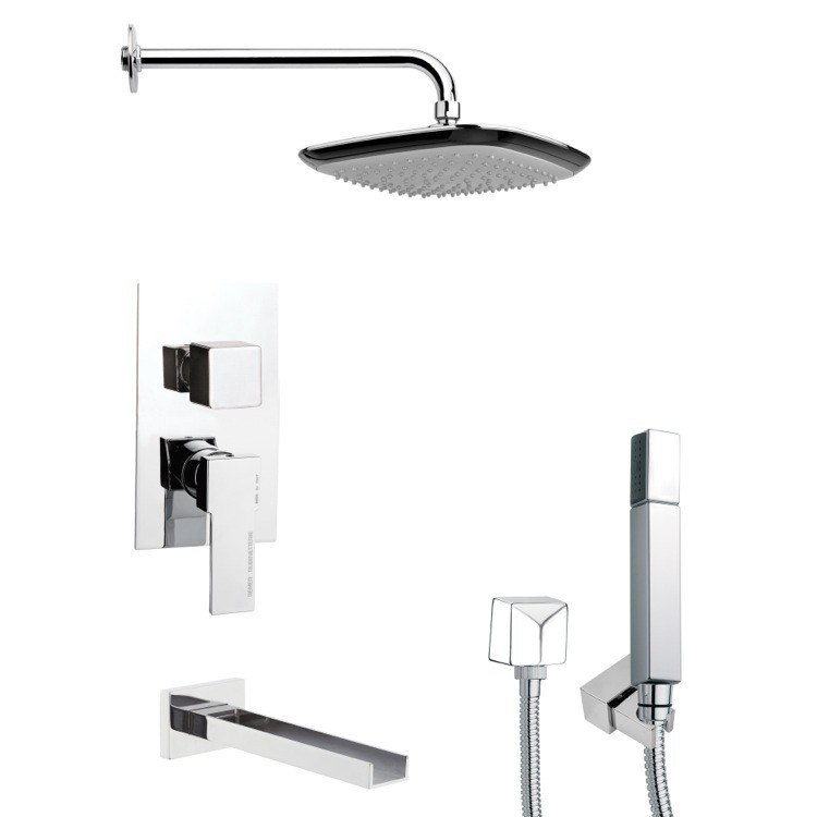 REMER TSH4114 TYGA CHROME MODERN SQUARE SHOWER SYSTEM