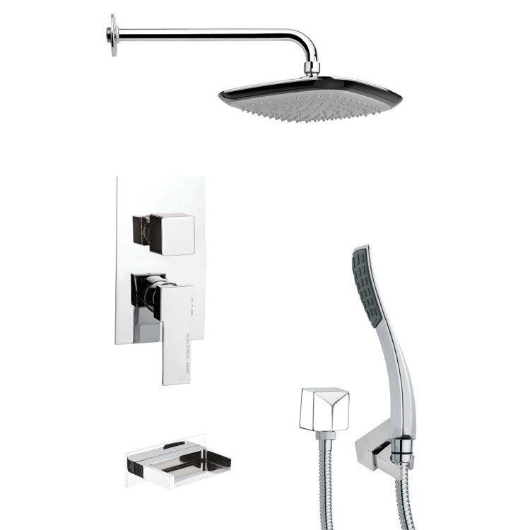 REMER TSH4115 TYGA CHROME CONTEMPORARY SQUARE SHOWER SYSTEM