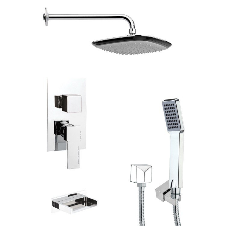 REMER TSH4116 TYGA CONTEMPORARY SQUARE SHOWER SYSTEM IN CHROME