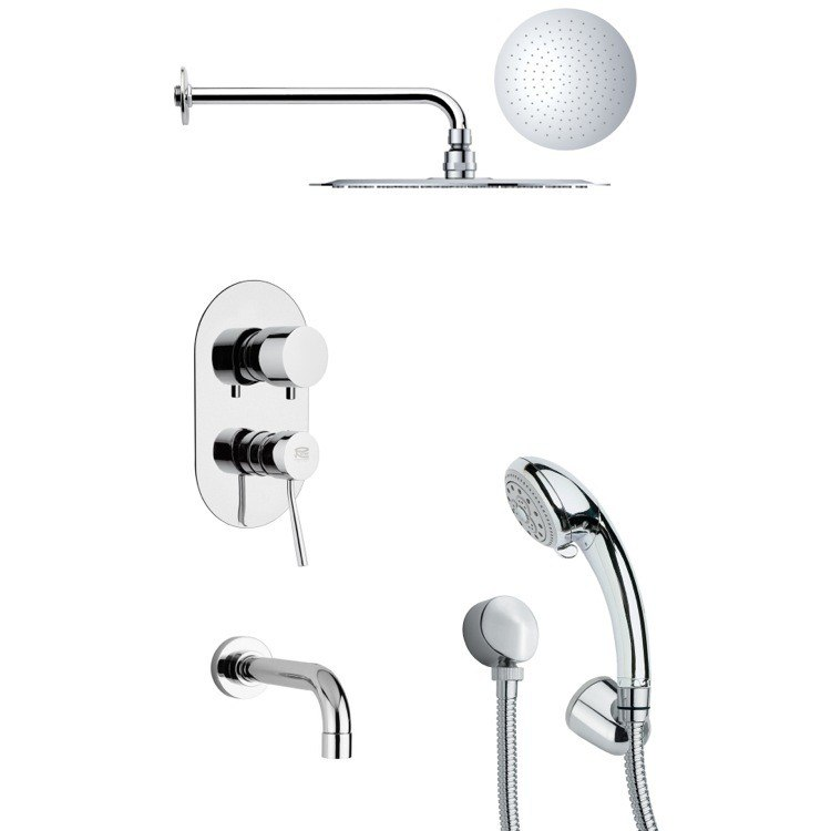 REMER TSH4123 TYGA SLEEK ROUND POLISHED CHROME SHOWER SYSTEM