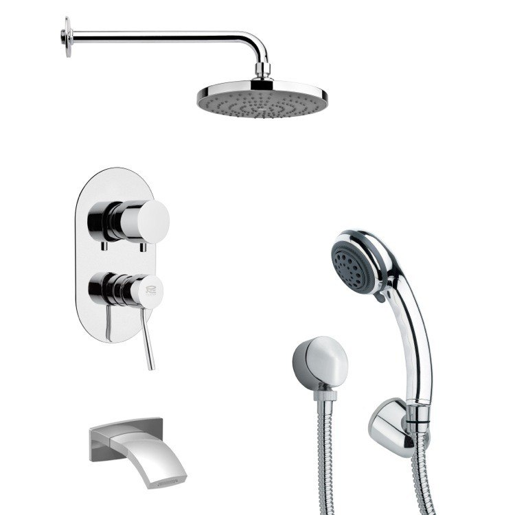 REMER TSH4167 TYGA ROUND CONTEMPORARY POLISHED CHROME SHOWER SYSTEM