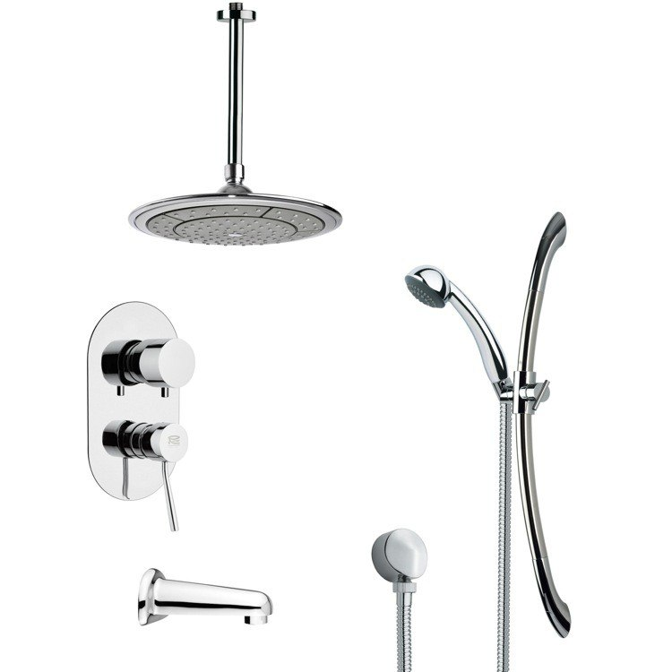REMER TSR9000 GALIANO MODERN RAIN SHOWER SYSTEM IN CHROME
