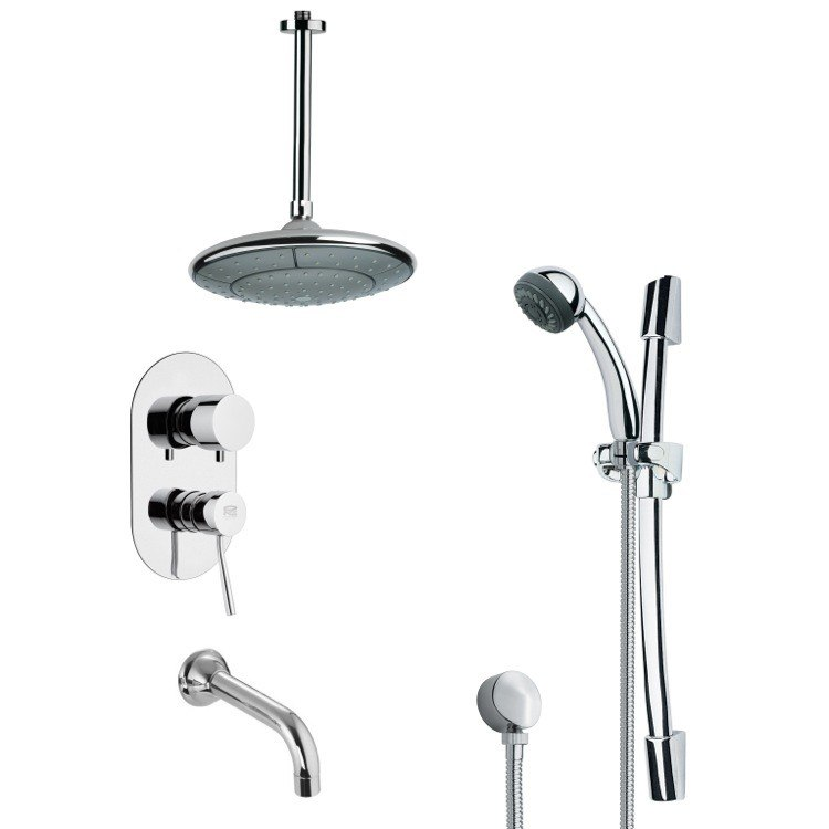 REMER TSR9004 GALIANO MODERN RAIN SHOWER SYSTEM IN CHROME