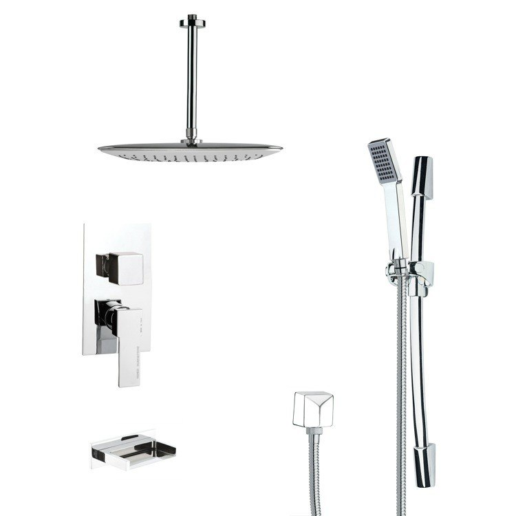 REMER TSR9019 GALIANO MODERN SQUARE SHOWER SYSTEM IN CHROME
