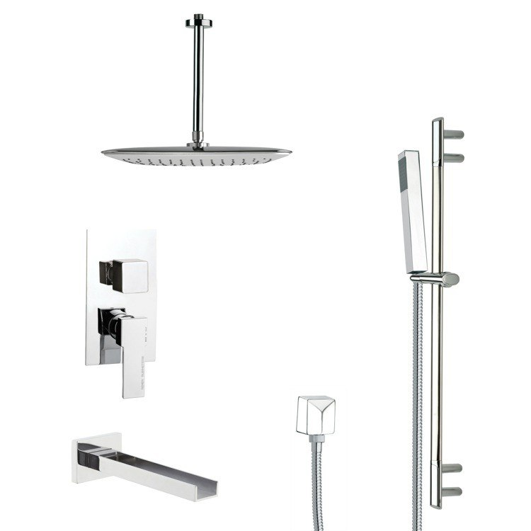 REMER TSR9020 GALIANO MODERN SQUARE SHOWER SYSTEM IN CHROME