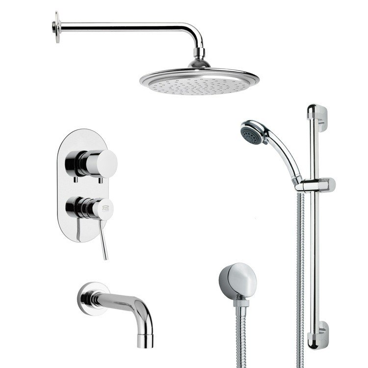 REMER TSR9044 GALIANO MODERN POLISHED CHROME RAIN SHOWER SYSTEM